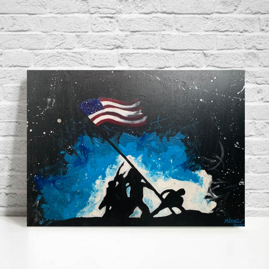 Modern wall decor art for army veteran